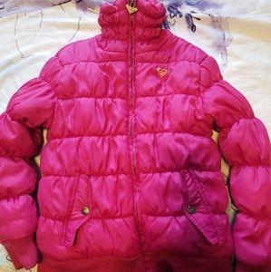 Roxy Girl Pink Puffer Fall / Winter Jacket Coat 6X